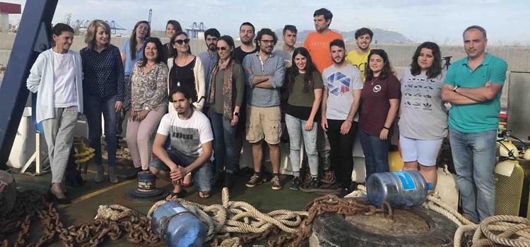 El buque UCADIZ inicia la I campaña de prácticas del máster en Arqueología Náutica y Subacuática en 2018